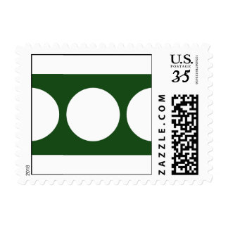 White Circles on Green – Small Stamp
