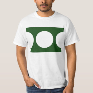 White Circles on Green T-Shirt