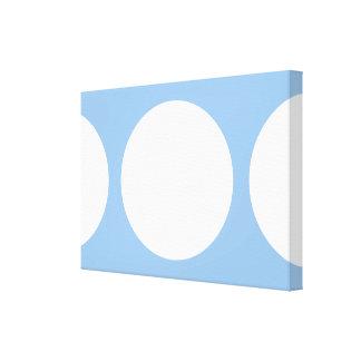 White Circles on Light Blue Canvas Print