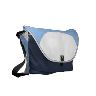 White Circles on Light Blue Courier Bags