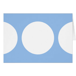 White Circles on Light Blue Greeting Card