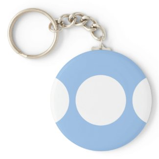White Circles on Light Blue keychain