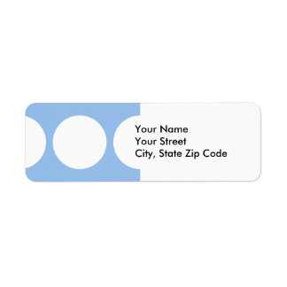White Circles on Light Blue return address label