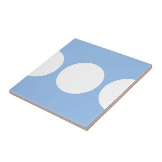 White Circles on Light Blue tile