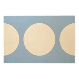 White Circles on Light Blue Wood Wall Decor
