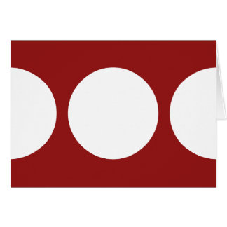 White Circles on Red Greeting Card