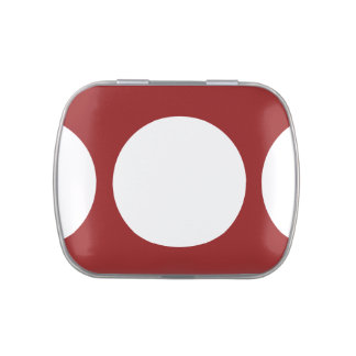 White Circles on Red Jelly Belly Tin