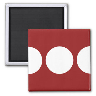White Circles on Red Magnets