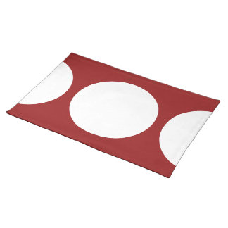 White Circles on Red Place Mats