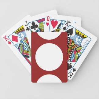 White Circles on Red Playing Cards