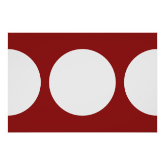 White Circles on Red Poster