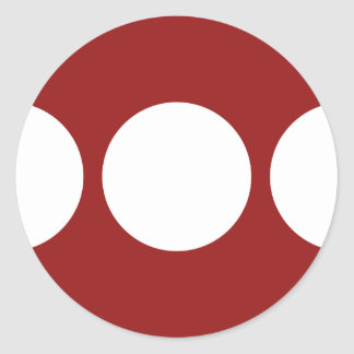 White Circles on Red Round Stickers