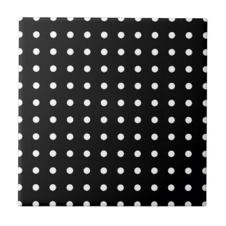 white circles - polka dots small square tile