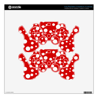 White circles PS3 controller decals