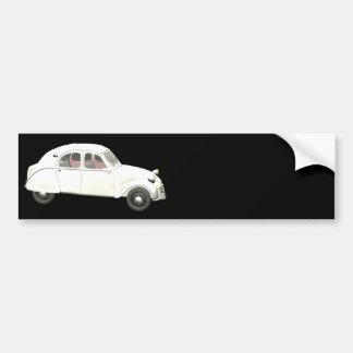 White Citroen 2CV Car Bumper Sticker