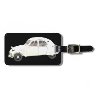 White Citroen 2CV Luggage Tag
