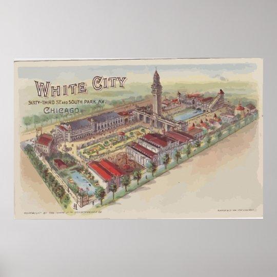 White City 63rd St And South Park Av Chicago Poster
