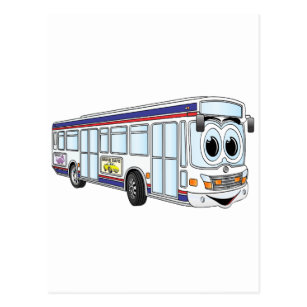 White City Bus Cartoon Postcard