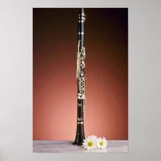 white Clarinet flowers Print