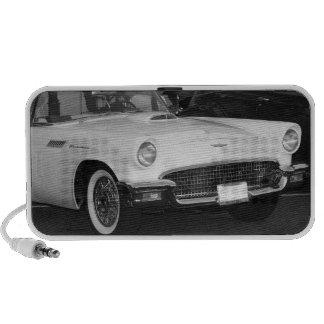 White classic car PC speakers