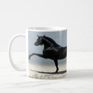 white, classic, custom, mug, horse, full wrap coffee mug