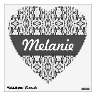 white classic lace heart decal