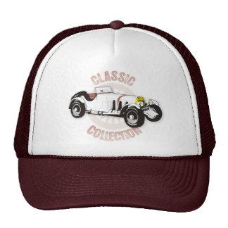White classic racing car trucker hat