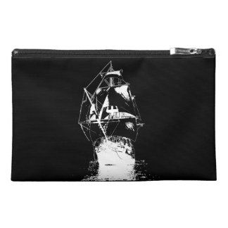 White Classic Ship Travel Accessory Bags