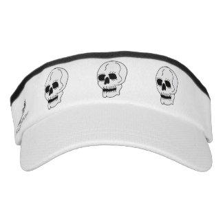 White Classic Skull Halloween Goth Visor