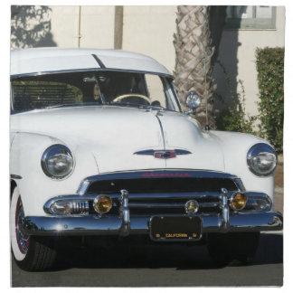 White classic white car cloth napkin
