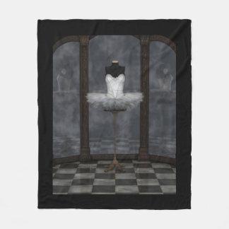 White Classical Ballet Tutu Reflections Fleece Blanket
