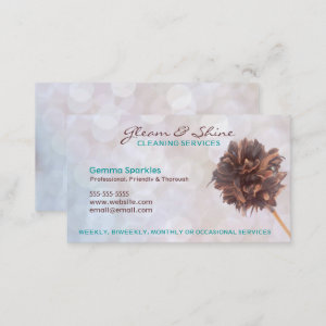 White Cleaning Services Business Cards