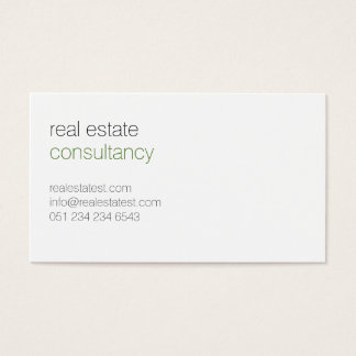 White, clear, modern business card