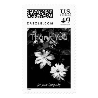 White Clematis 2 Sympathy Thank You Postage