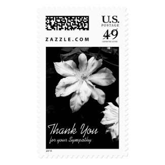 White Clematis -3- Sympathy Thank You Postage