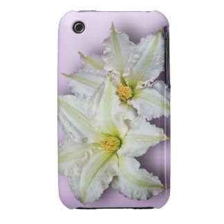 White Clematis iPhone 3 Case-Mate Cases