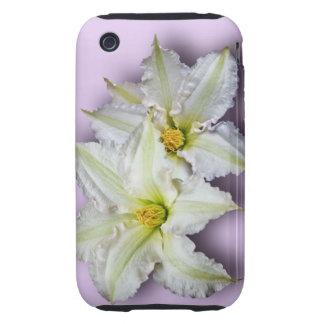 White Clematis iPhone 3 Tough Case