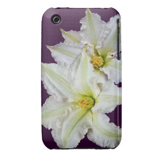 White Clematis iPhone 3 Case-Mate Case