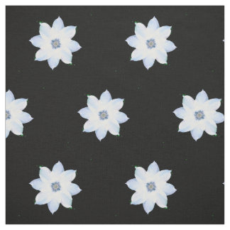 White Clematis Fabric