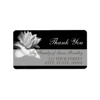 White Clematis Family Thank You Label 1
