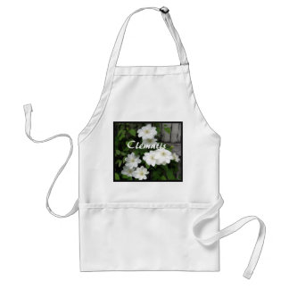 White Clematis Fence Adult Apron
