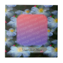 White Clematis Flowers Your Photo Tile