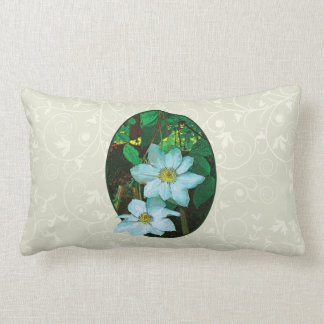 White Clematis Pillows