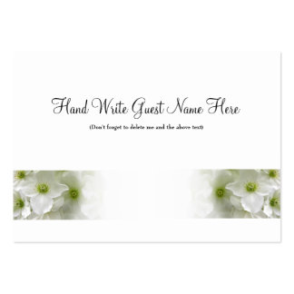 White Clematis - Place Cards Business Card Template