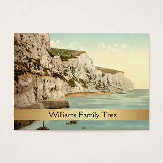 White Cliffs of Dover, England Family Tree Business Card