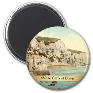 White Cliffs of Dover, Kent, England 2 Inch Round Magnet