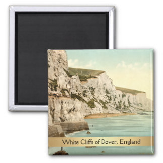 White Cliffs of Dover, Kent, England 2 Inch Square Magnet