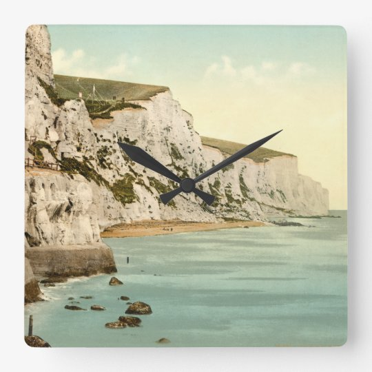 White Cliffs of Dover, Kent, England Square Wall Clock