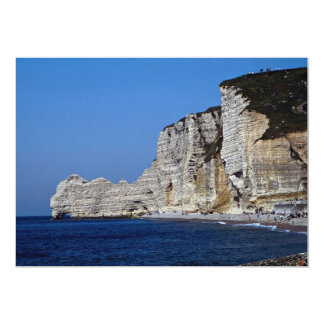 White cliffs on Normandy coast, France 5x7 Paper Invitation Card