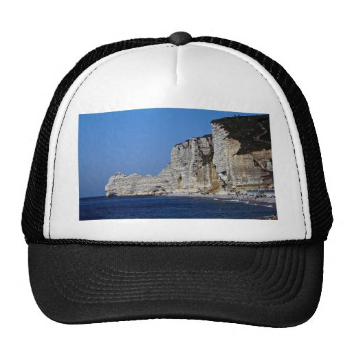 White cliffs on Normandy coast, France Trucker Hat